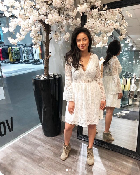 PERFECT WHITE LACE DRESS