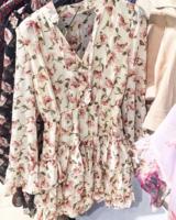 FLOWER DRESS BEIGE 2.0