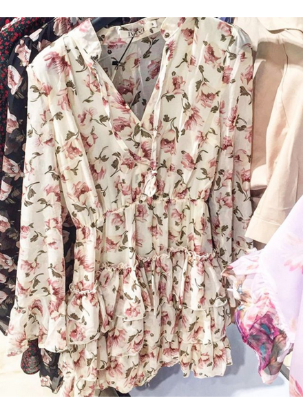 FLOWER DRESS BEIGE 2.0