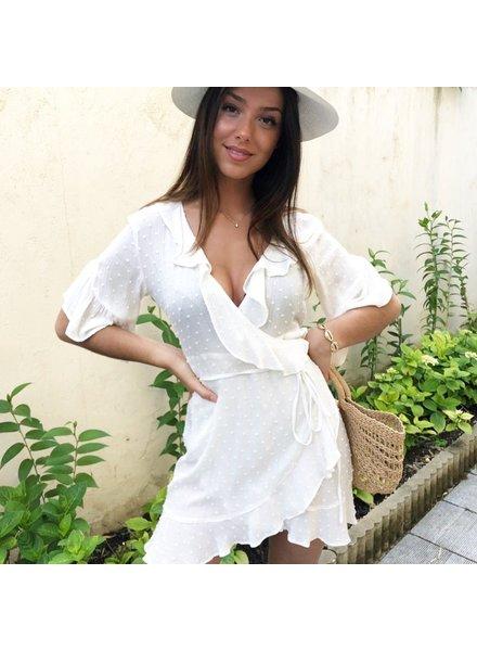 TIFFY DRESS WHITE