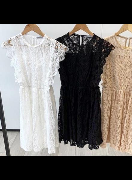 LACE FESTIVAL DRESS BLACK