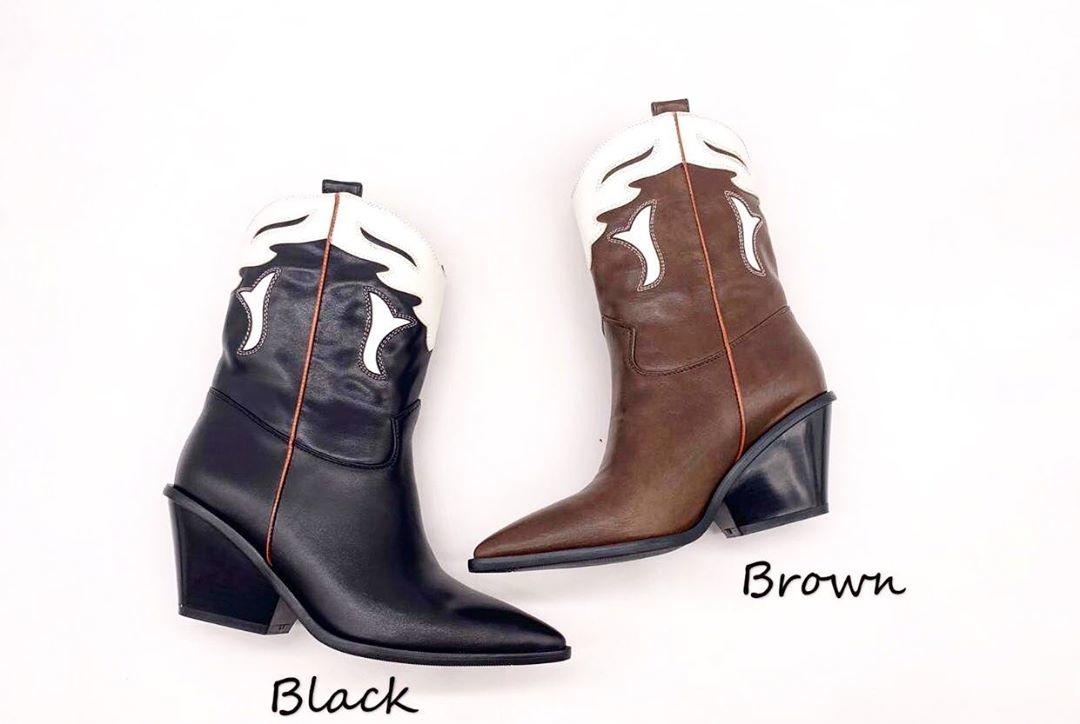 JOLIE COWBOY BOOTS BLACK