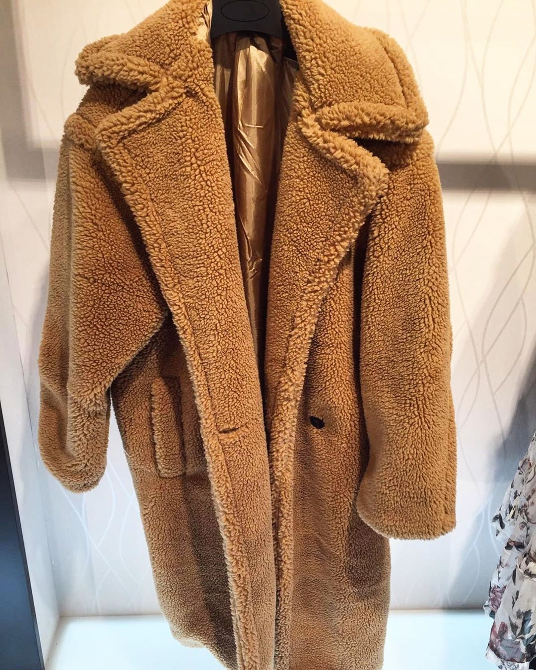 FLUFFY TEDDY COAT CAMEL