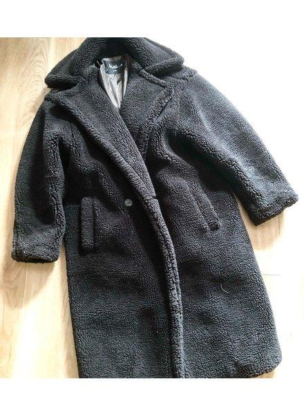 FLUFFY TEDDY COAT BLACK