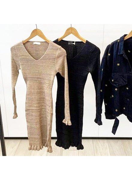 LUREX BEIGE DRESS