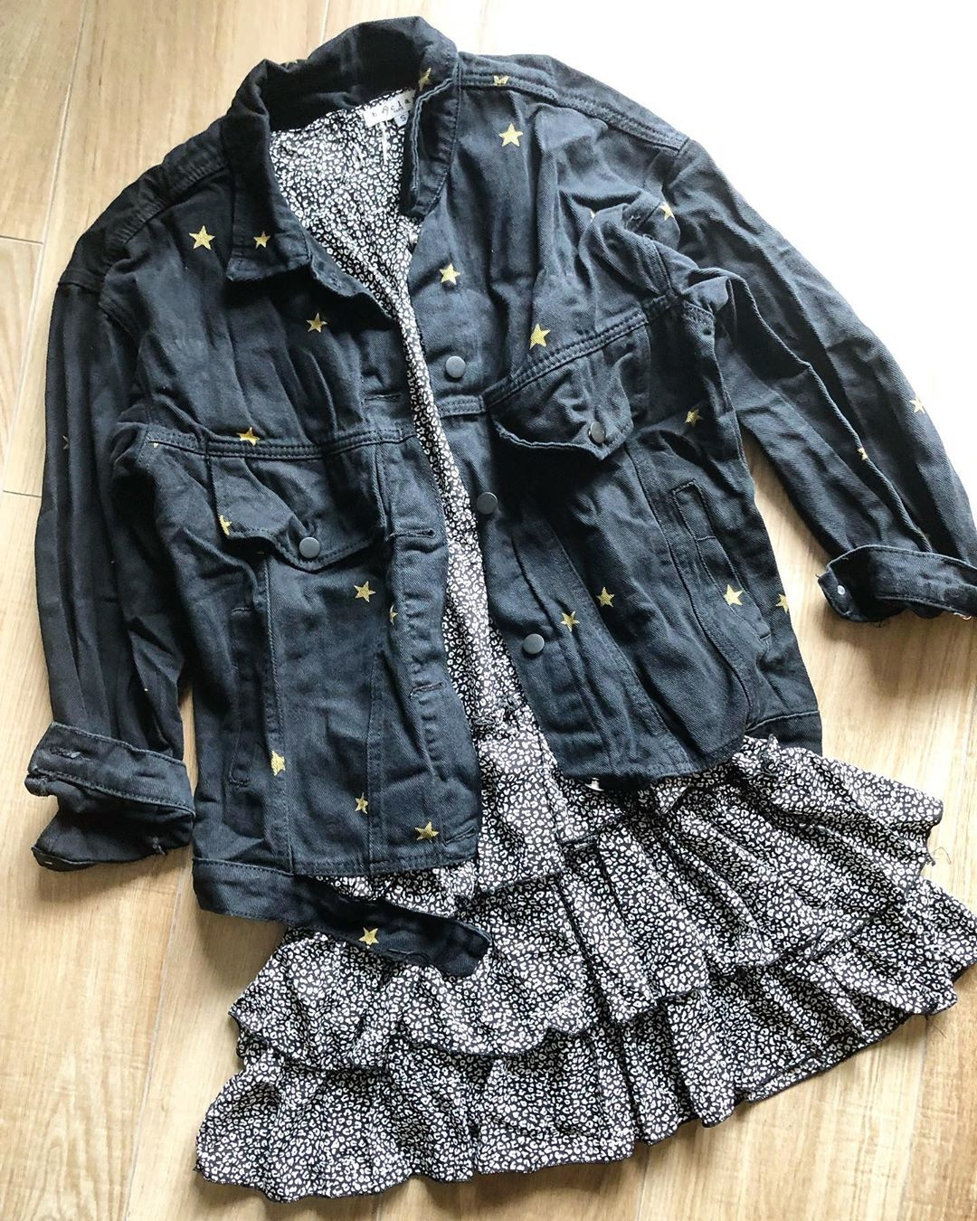 DENIM STAR JACKET GOLD