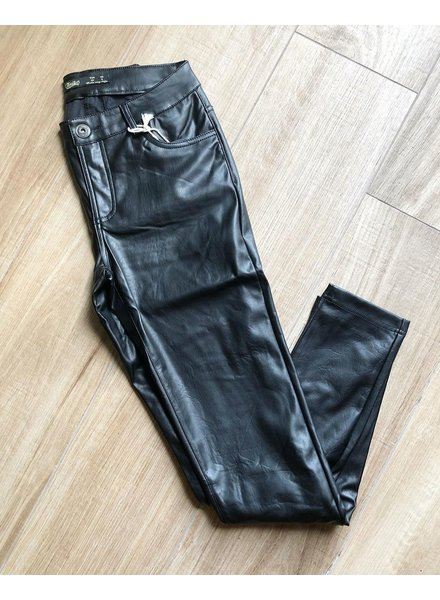 BLACK COAT STRETCH  PANTS