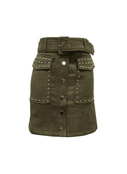 STUDDED ARMY SKIRT