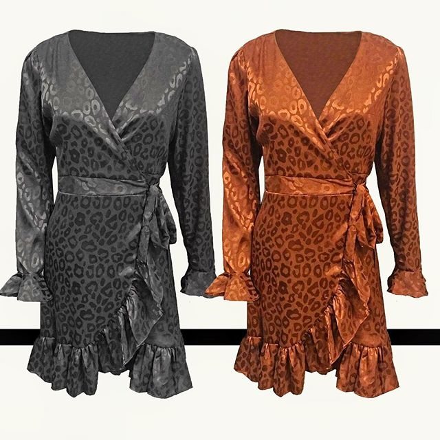 BRONZE FESTIVE LEO DRESS