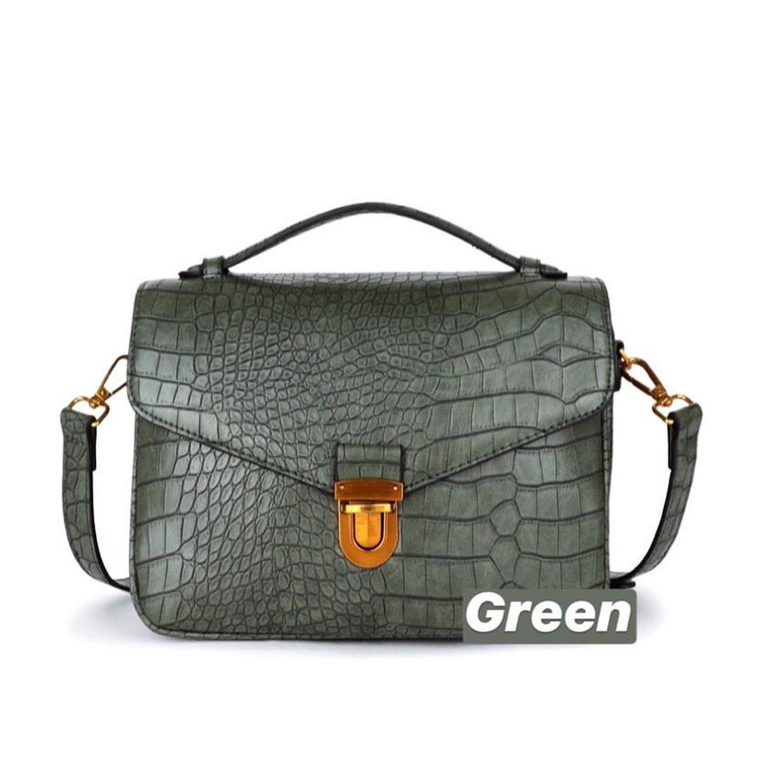 CROCO GREEN BAG
