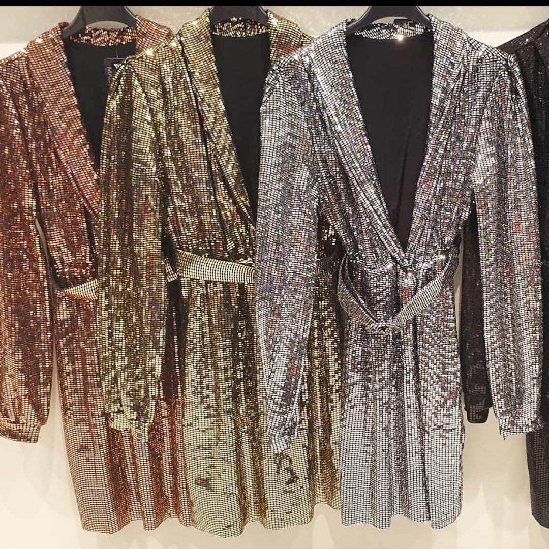 LIMITED SPARKLE DRESS GOLD
