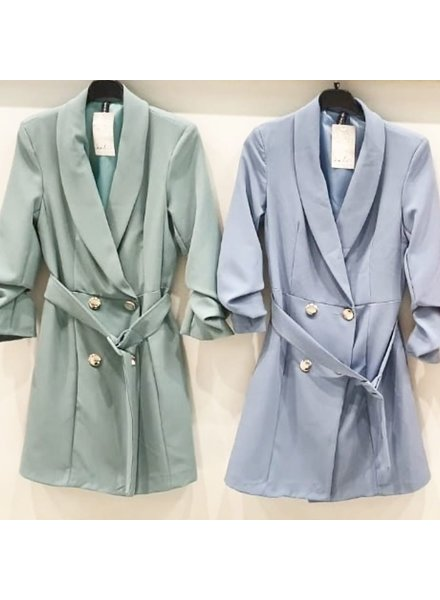 BLAZER DRESS MINTY GREEN