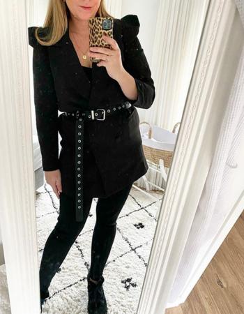 PERFECT BLACK BLAZER DRESS