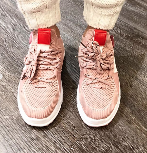 LUXY PINK SNEAKERS