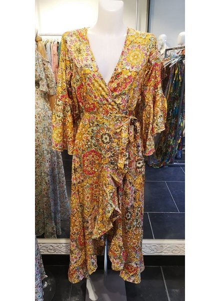 WRAP YELLOW DRESS