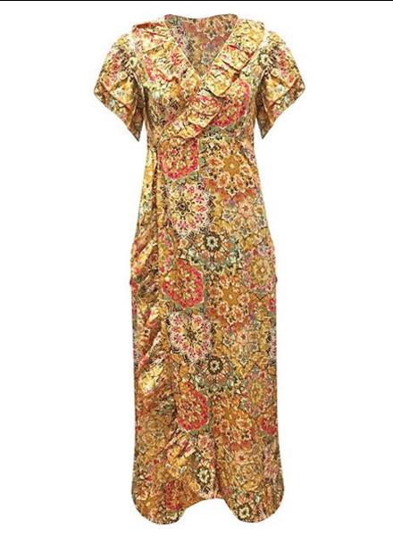 WRAP GOLDEN YELLOW DRESS 2.0