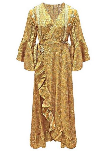 WRAP GOLDEN GOLDY DRESS