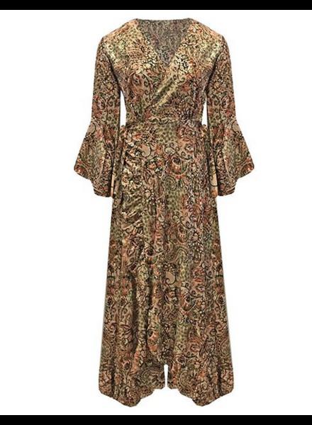 WRAP GOLDEN BRONZE DRESS