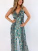 BOHO JUMPSUIT BLUE