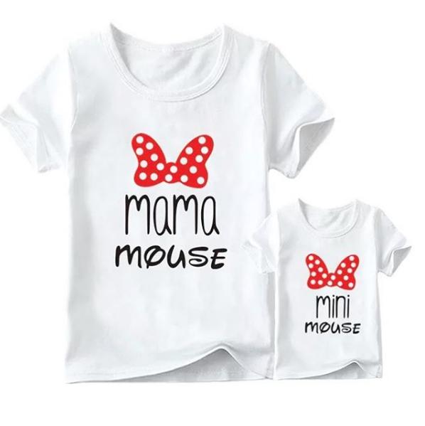 MAMA MOUSE WHITE TEE