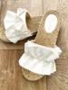 RUFFLE SANDALS WHITE