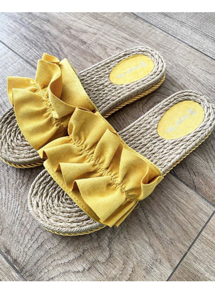 RUFFLE SANDALS YELLOW