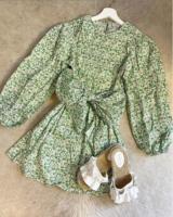 GREEN SANSA DRESS