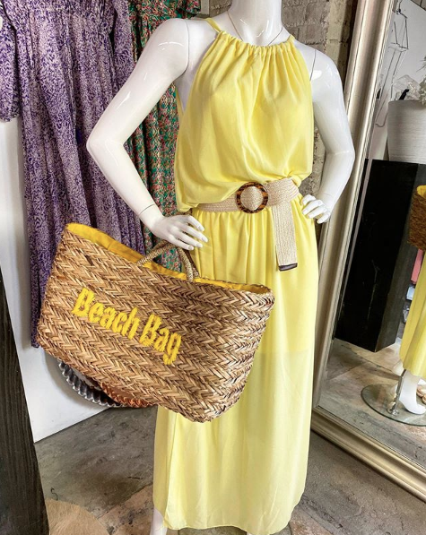GEORGIE DRESS MAXI YELLOW