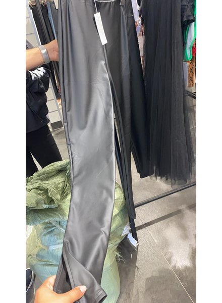 LEATHER SPLIT PANTS