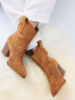 COW BOOTS CAMEL