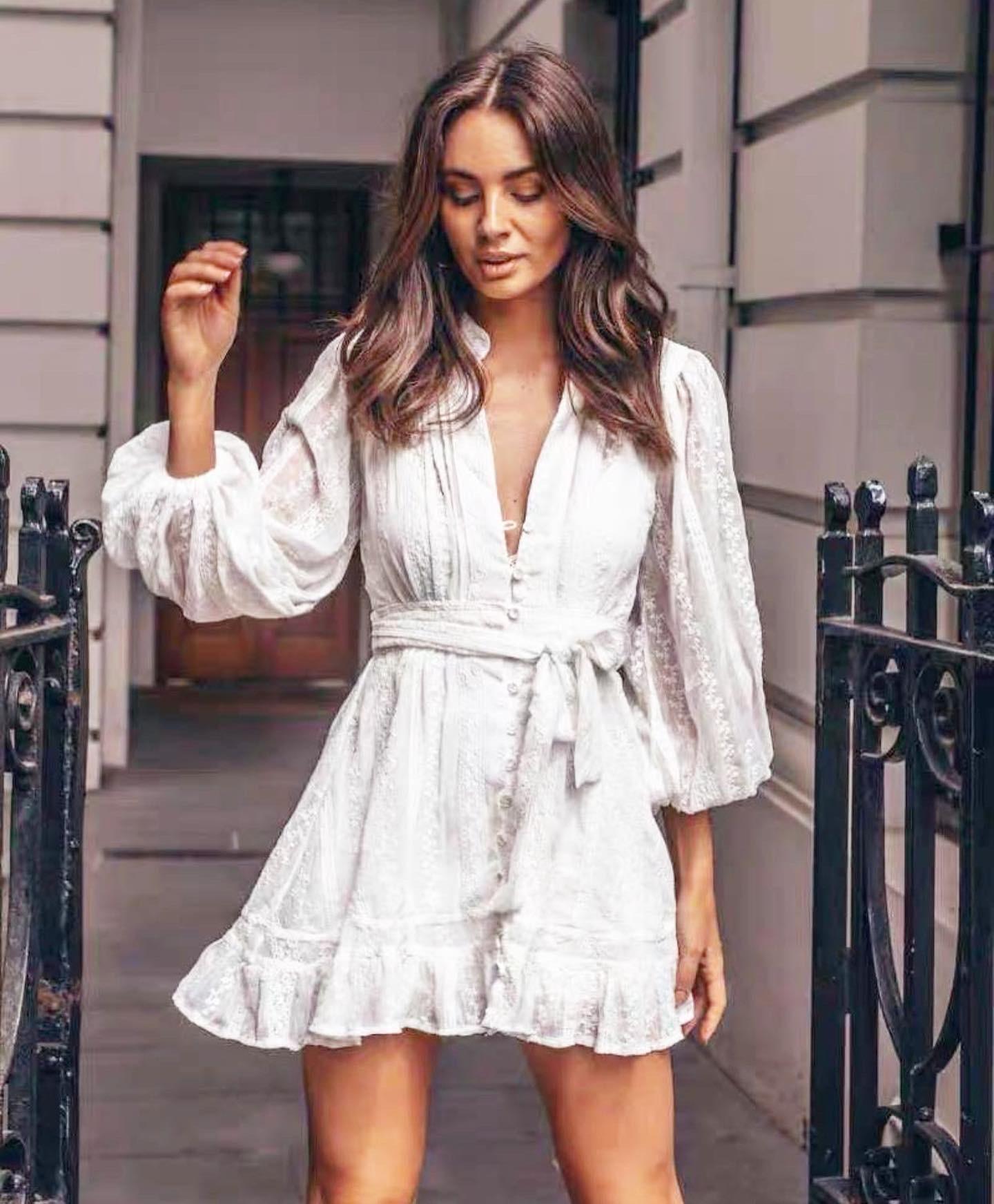 MARIE DRESS WHITE