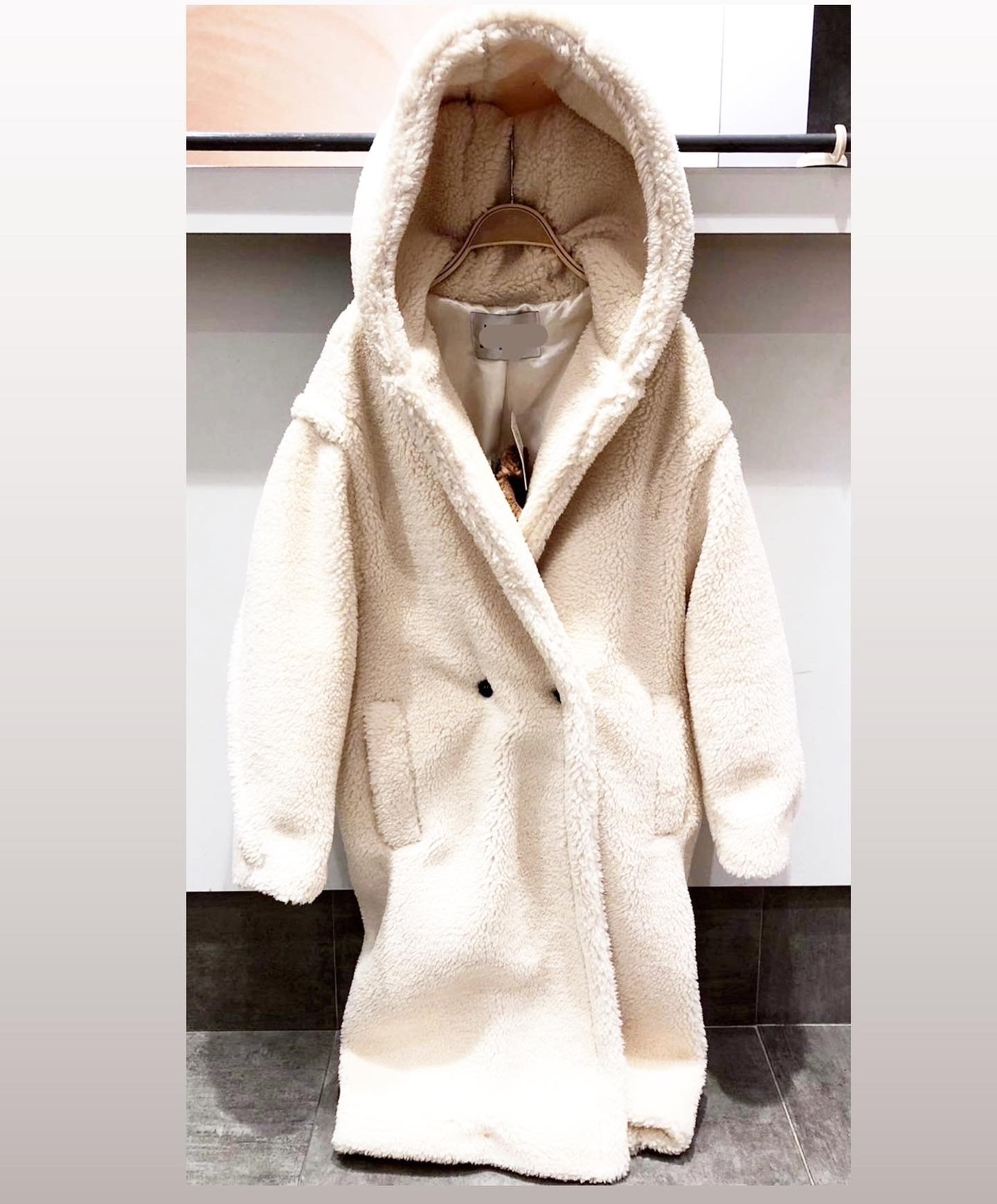 HOODED TEDDY OFF WHITE