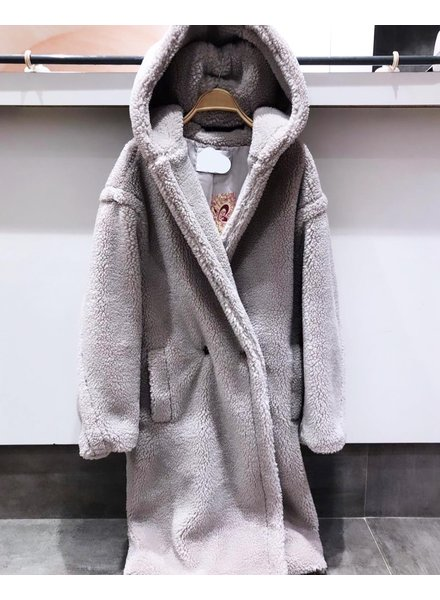 HOODED TEDDY GREY