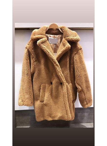 SHORT TEDDY COAT CAMEL