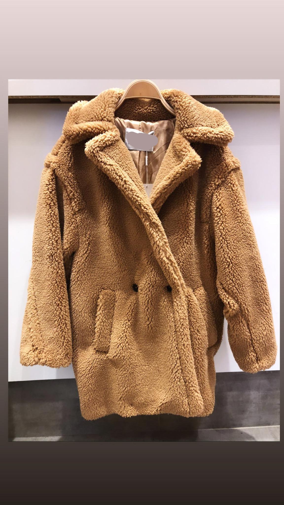 SHORT TEDDY COAT CAMEL