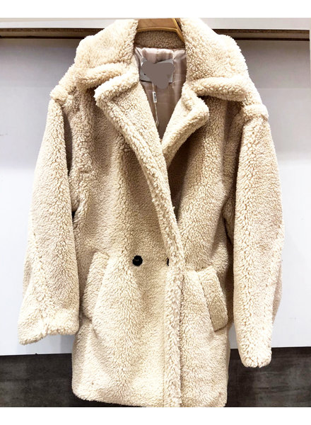 SHORT TEDDY COAT BEIGE
