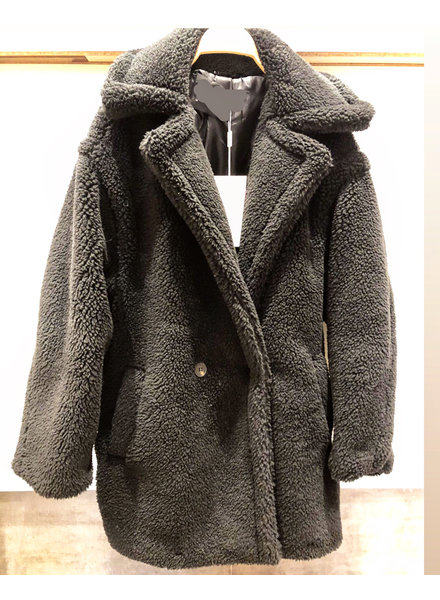 SHORT TEDDY COAT BLACK