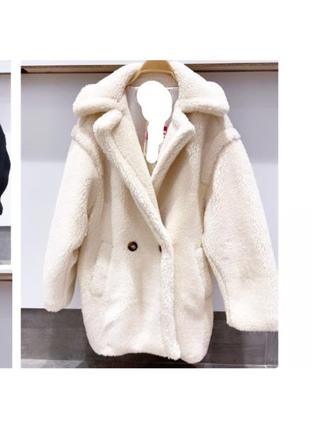 SHORT TEDDY COAT OFF WHITE