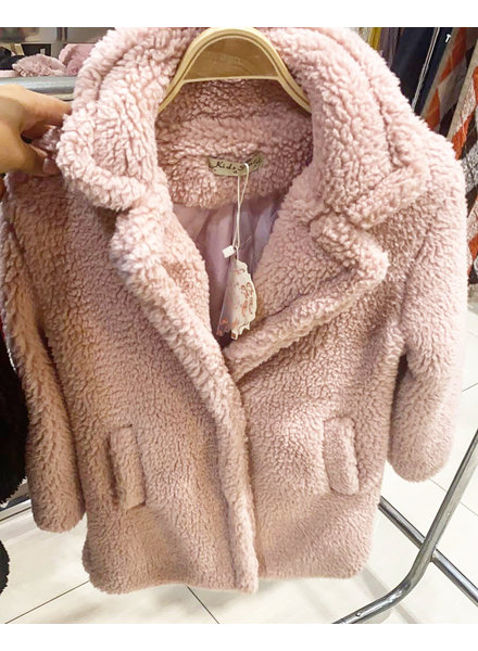 KIDS TEDDY COAT PINK