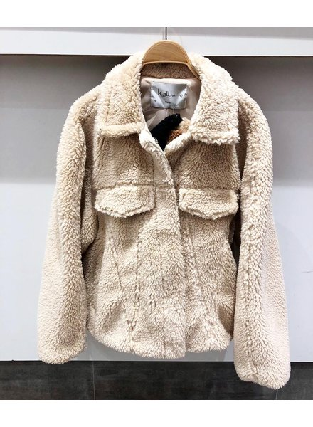 RILEY TEDDY COAT BEIGE