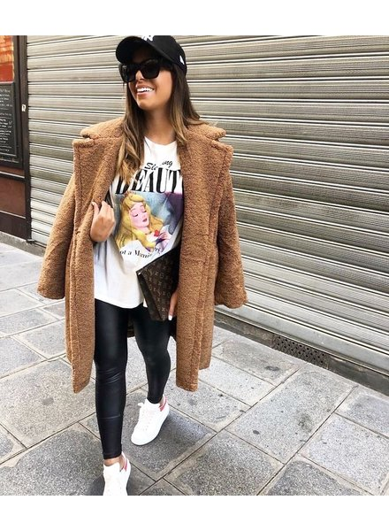 MIA TEDDY COAT CAMEL