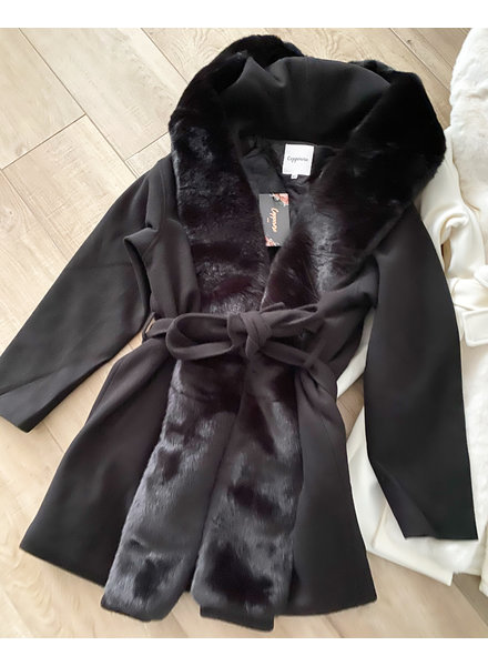 CLEO BLACK TEDDY COAT