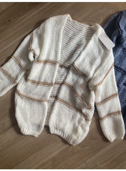 LUREX CARDIGAN OFF WHITE