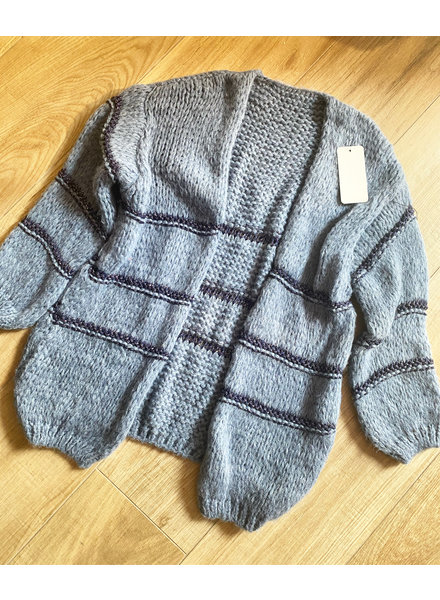 LUREX CARDIGAN BLUE