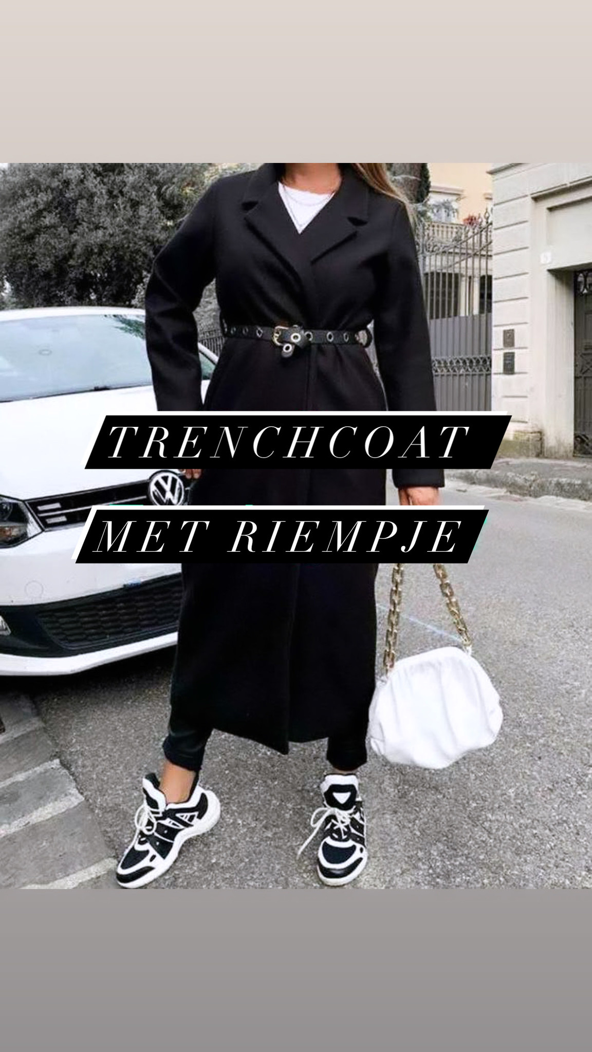 TRENCHCOAT BELT BLACK