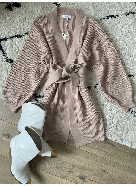 DANA LONG CARDIGAN TAUPE
