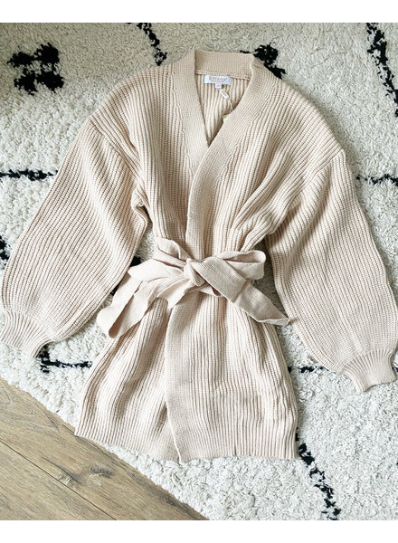 DANA LONG CARDIGAN BEIGE