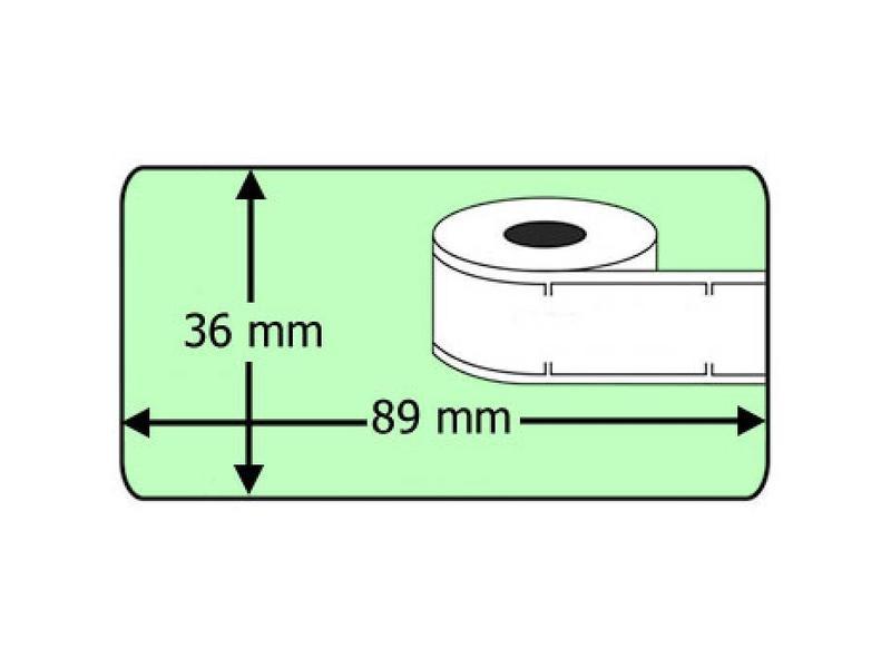 Dymo 99012 - Dymo 36 x 89 mm - Groene labels 260/rol - 24 rollen per doos