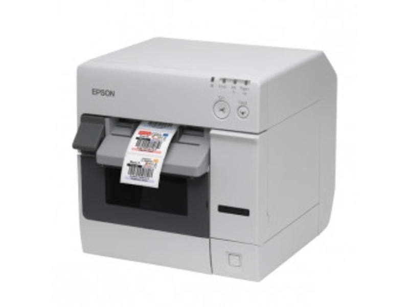 Epson ColorWorks C3400, cutter, Ethernet, NiceLabel, wit