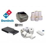 ZEBRA Etiketten, labelprinters en kassa supplies voor Domino's